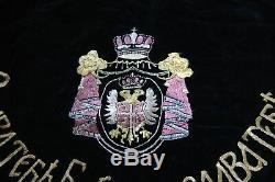 Superb RARE flag Kingdom of Serbia gold Embroidery handcraft chetnik WW1 Antique