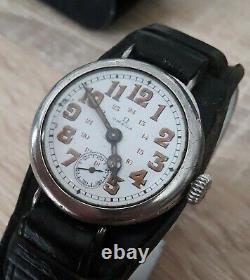 Superbe Montre OMEGA MILITAIRE Argent Massif ww1 MILITARY WATCH
