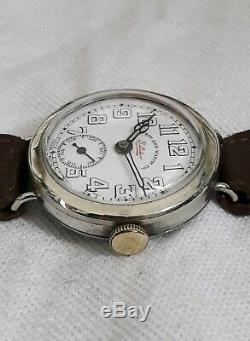 Trench watch Gents Officers Wristwatch 15J WW1 (FULL W. ORDER) West end Watch