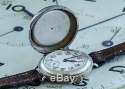 UBER RARE WW1 Trench Watch Compass Combination Watch Weird, Unusual & Superb