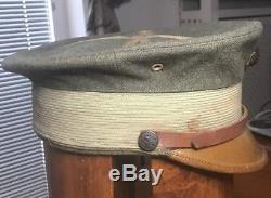 USMC WW1 Marine Officers Green Bell Crown Cover Original Rare