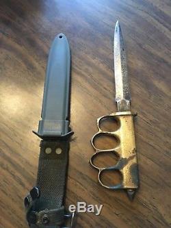 US 1918 trench knife WW1 WWI AU LION Knife Non Original Scabbard