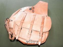 US Army WW1 CAVALRY M-1904 BROWN LEATHER SADDLEBAGS MINT WPG Tack Riding Packs