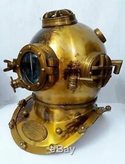 US Navy Mark V Diving Divers Helmet Solid Steel Full Size Marine Sea Scuba Gift
