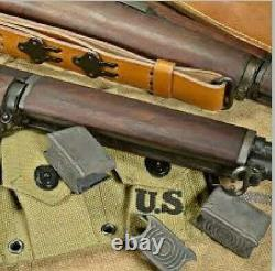 US Sling 1907 Springfield WWI Garand 1903 A3 Brown Finish Leather WW2