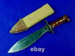 US WW1 Antique Old Bolo Fighting Knife with Scabbard