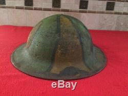 US WW1 M1917 Steel Helmet Doughboy AEF Army Hand Painted Trench Art Camouflage