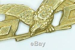 U. S. Army Military Aviator Wings 1913 Pattern MA Wing WWI 1910's Blackinton