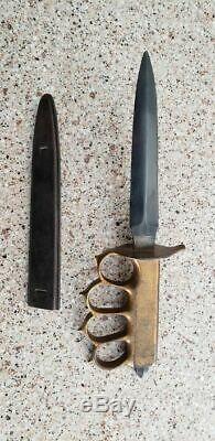 U. S. WW1 M1918 Trench Knife & Original Sheath