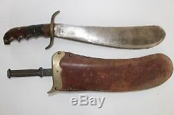 U. S. WWI Military Original Bolo Knife with Scabbard Springfield Armory 1914