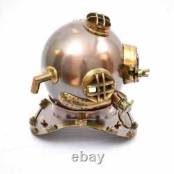 Us Navy Mark V Antique Diving Divers Helmet Brass Steel Full Size Vintage Gift