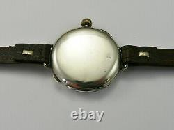 VINTAGE WW1 1917 SOLID SILVER 36mm HALF HUNTER OFFICERS TRENCH WATCH VGC