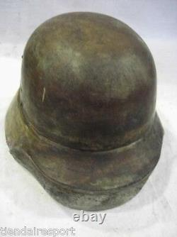 Very Rare German Helmet Mold M 40 Model Wwi Wwii Wooden Original, See Details