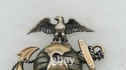 Very Rare Original Wwi Jeweler Made Usmc Officer Gold & Silver Hat Ega-pin