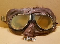Very Rare Ww1 1917 Royal Flying Corp Rfc Mark 11 Flying Goggles Named Lt Duncan