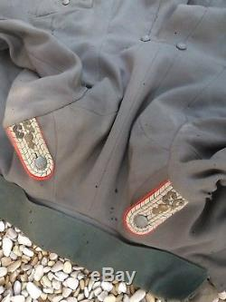 Veste vareuse mle 15 feldgrau artillerie N°53 Prussienne d'officier WW1 NOM
