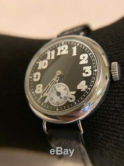 Vintage 1917 WW1 Solid Silver Militarty Officers Watch Swiss Made