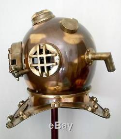 Vintage Divers Diving Helmet Full Size Scuba Antique US Navy Mark V Deep helmet