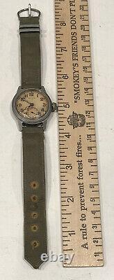 Vintage Hamilton WWI WWII WW2 US Army Navy USMC Military Wrist Watch U. S. 1917-H