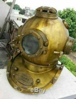 Vintage Look Diving Divers Helmet Solid Brass Marine Antique Anchor Steel Decor
