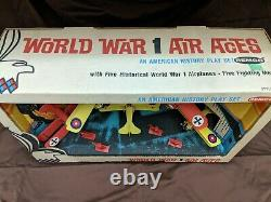 Vintage Remco World War 1 Air Aces Playset, Super Rare, Airplanes