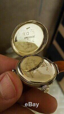 Vintage WW1 H. Moser & Cie Signal Corps Military SILVER Trench Watch-SERVICED
