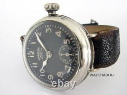 Vintage WW1 Ingersoll Army Radiolite Military Trench Made in USA Wrist Watch