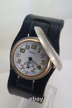 Vintage WW1 Officers Trench Military Silver Dunhill Hunter Wrist Watch 1918