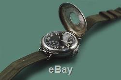 Vintage WWI Military Trench Antique ROLEX Watch Semi Hunter Screw Down Back