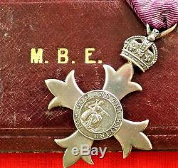 Vintage Ww1 British Order Of The British Empire Type 1 1917 Medal Cased
