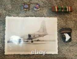 Vintage Ww2 Us 327th Glider Lot 101st Airborne Paratrooper All From One Vet 91c