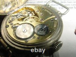 Vintage ZENITH Military WW1 TRENCH watch Sterling SILVER mens Watch