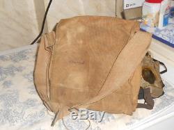 Vtg. WWI US Army Gas Mask & Bag 61st Artillery Veteran Named
