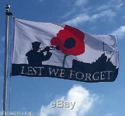 WORLD WAR 1 WW1 LEST WE FORGET 5ft x 3ft Navy British Forces Flag