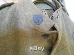 WORLD WAR I US ARMY WOOL JACKET & Wool Cap Hat