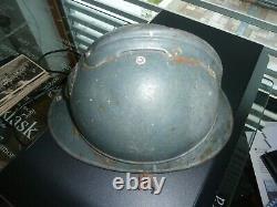 WW1 14/18 Coque de casque Adrian Nominative ambulance 16/4 134°division
