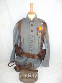 WW1 1915 Pattern French Artillery Captains Tunic & Equipment