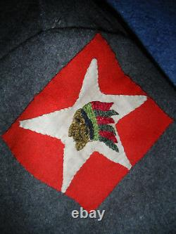 WW1 1st Battalion 6th Marines Overcoat and Patch 1918-1919 3-L Stripe