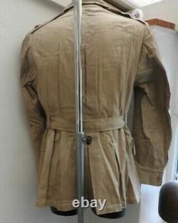 WW1/2 Military British Army Tropical Dress Jacket Tunic Uniform Medal Bars 5499