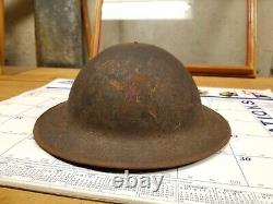 WW1 2nd Division Painted Helmet Indian Division Out Of The Woodwork Rare Salty
