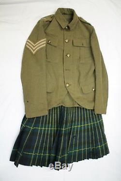 WW1 50th Canadian CEF Gordon Highlanders Tunic & Kilt Group