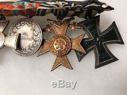 WW1 6-Place Imperial German Medal Bar Iron Cross Badge/Pin/Award/Decoration