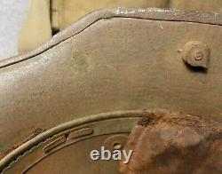 WW1 77th Division Painted Helmet German Camo Helmet Gas Mask Named Grouping