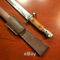 WW1 BRITISH 1903 PATTERN Bayonet & Scabbard P1888 Blade ENFIELD