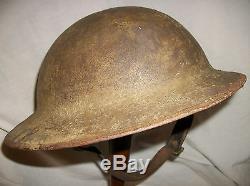 Ww1 British Army Helmet. Complete. 100% Original