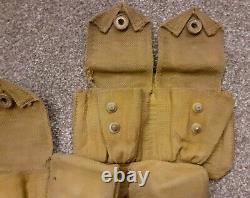 WW1 British 1908 pattern webbing ammunition pouch Royal Dublin Fusilies 1915