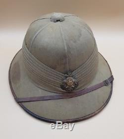 WW1 British Army Notts & Derby Sherwood Foresters Tropical Pith Helmet MUST SEE