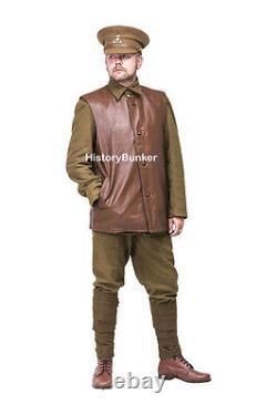 WW1 British Army leather jerkin MADE TO YOUR SIZES
