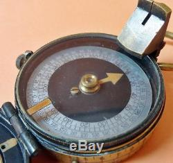 WW1 British Military Marching Compass with Case. GWO