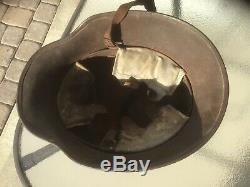 WW1 Camoflauged German helmet SI 66